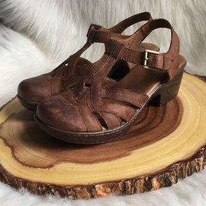 Born leather clog sandals